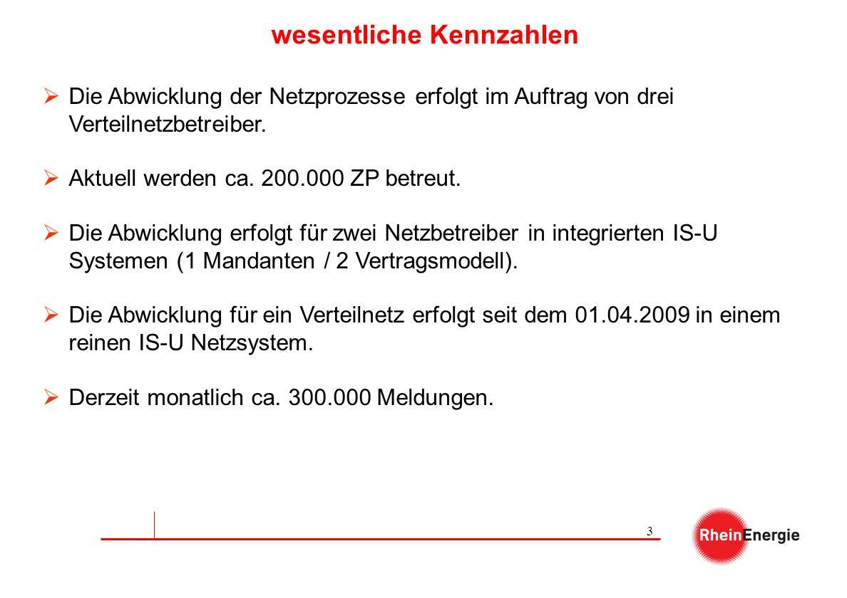 3 wesentliche Kennzahlen Die Abwicklung der Netzprozesse erfolgt im Auftrag von drei Verteilnetzbetreiber. Aktuell werden ca. 200.000 ZP betreut. Die