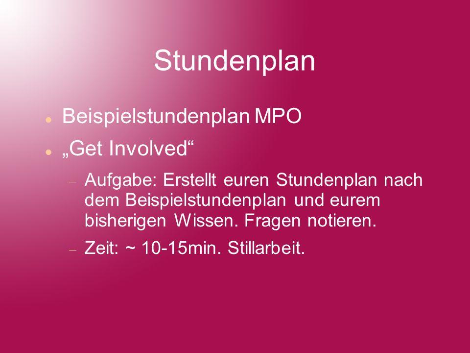 Tipps zum Studium Sprachpraxis HRZ Bibliotheksführung MuFuKa Studentenwerk SPS HIS-POS