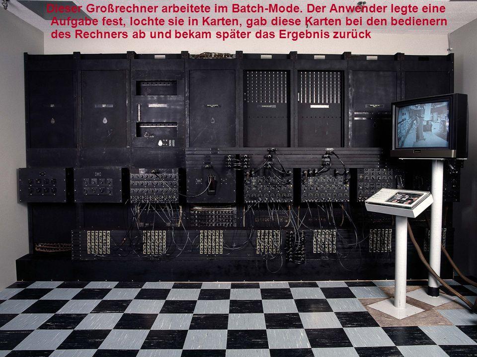 1961-erste elektronische Tischrechner die durch programmierbare Rechenmaschinen und Computer ersetzt wurden.