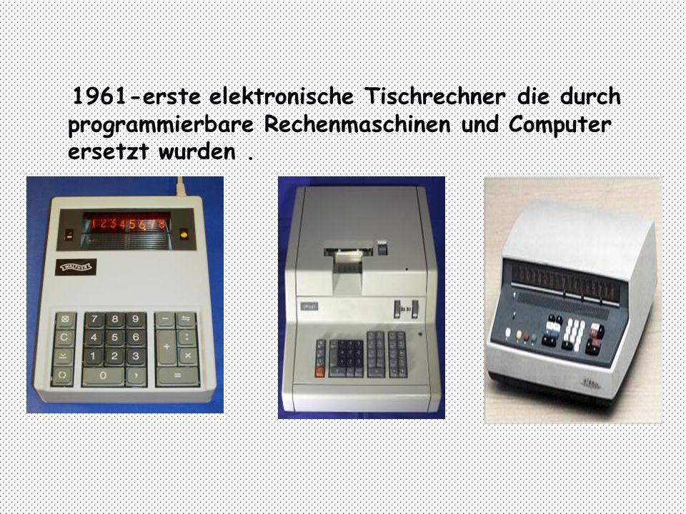 Anfang der 60´en Jahre wurde die integrierte Schaltung entwickelt.