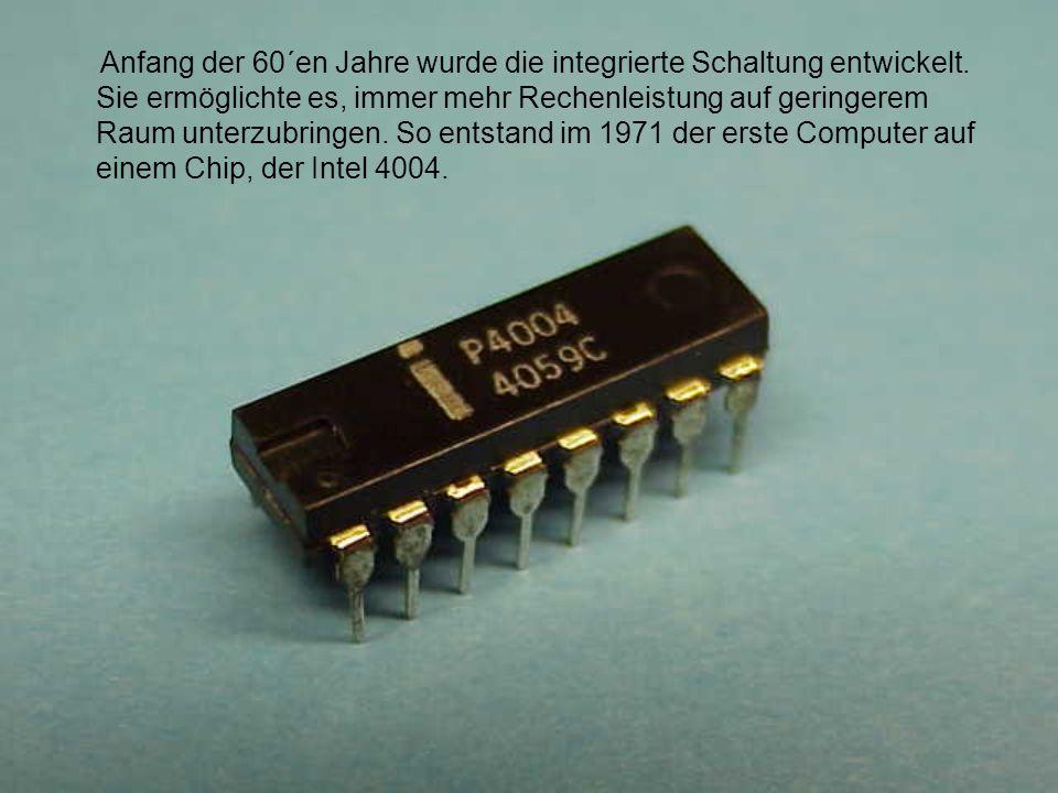 Nun begann die rasante Entwicklung der Computer für die Massen, der PCs.