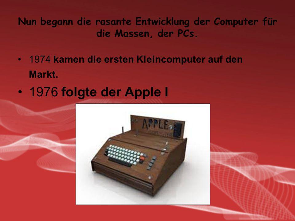 Aber bereits ein Jahr später wurde durch den Apple II abgelöst. Computer von Commodore