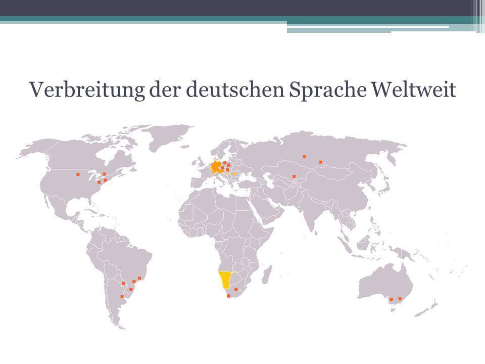 Verbreitung der deutschen Sprache Weltweit