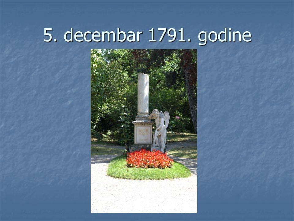 5. decembar 1791. godine