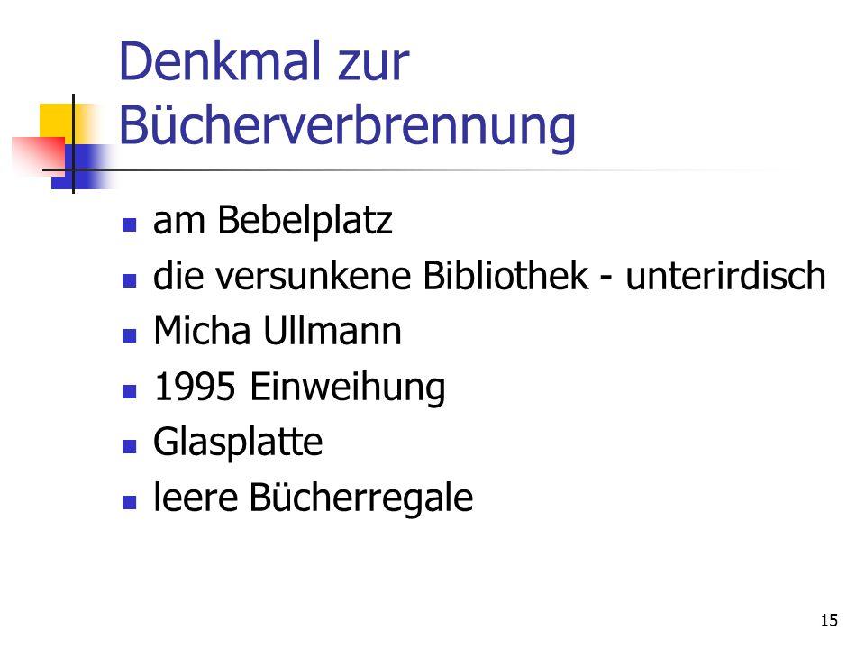 15 Denkmal zur Bücherverbrennung am Bebelplatz die versunkene Bibliothek - unterirdisch Micha Ullmann 1995 Einweihung Glasplatte leere Bücherregale
