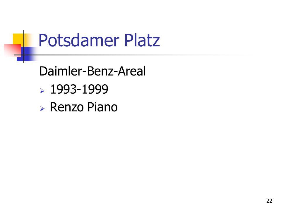 22 Potsdamer Platz Daimler-Benz-Areal 1993-1999 Renzo Piano