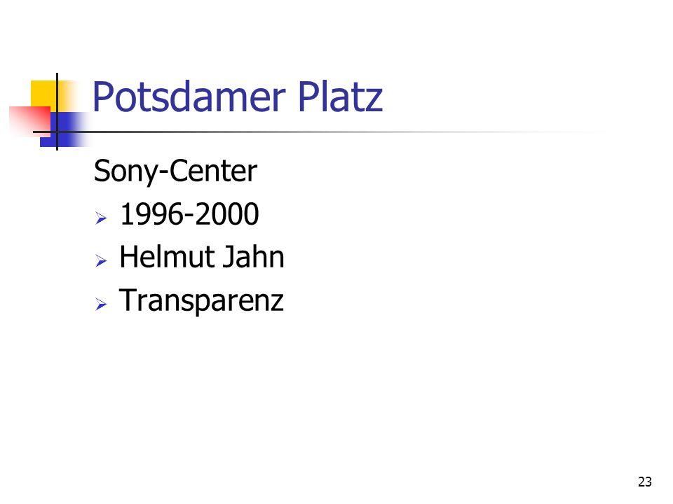 23 Potsdamer Platz Sony-Center 1996-2000 Helmut Jahn Transparenz