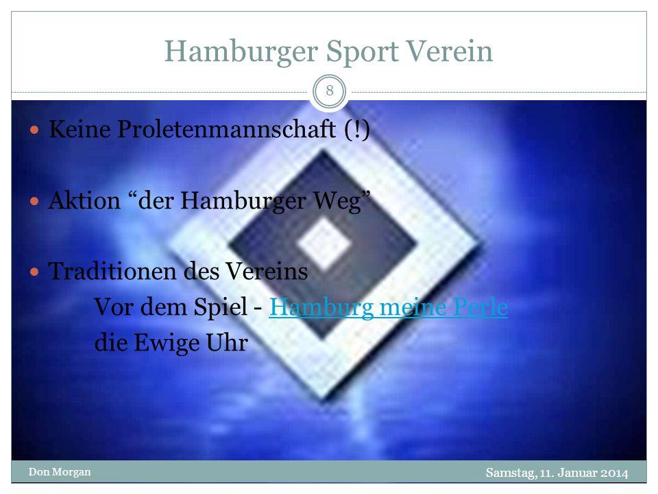 Hamburger Sport Verein Samstag, 11.