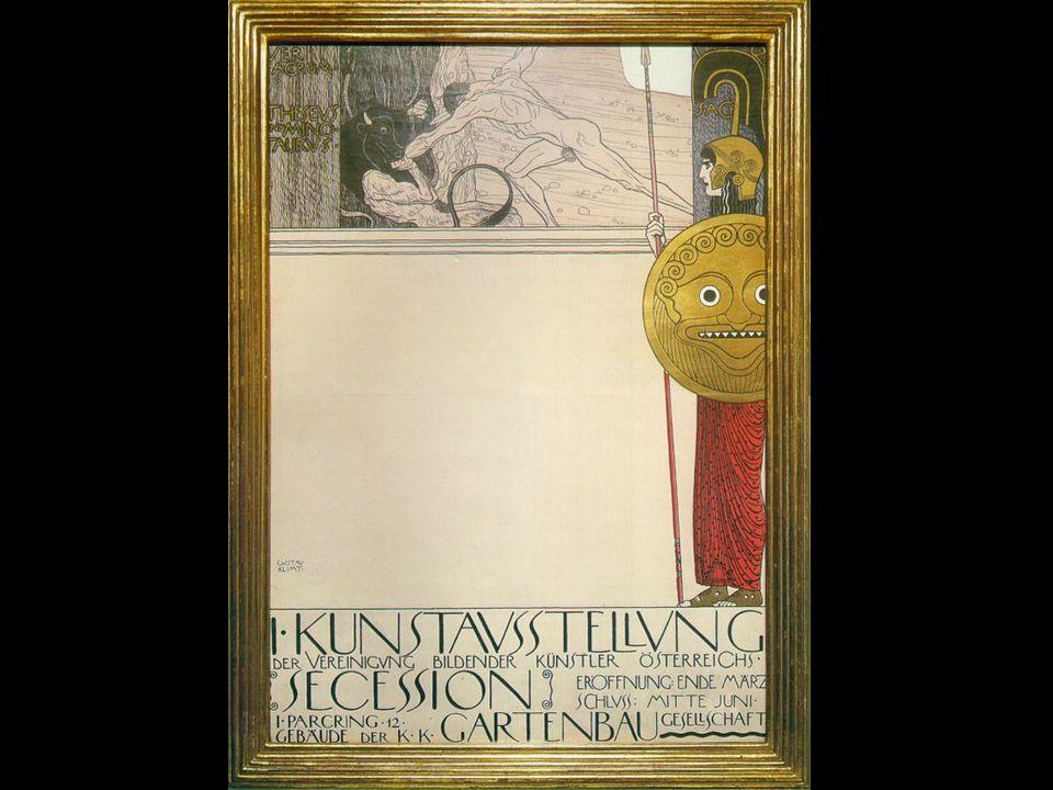 D er B eethoven- f ries Bilderzyklus Entstand 1902 34 Meter lang, 2 Meter hoch Dem Komponisten Ludwig van Beethoven gewidmet