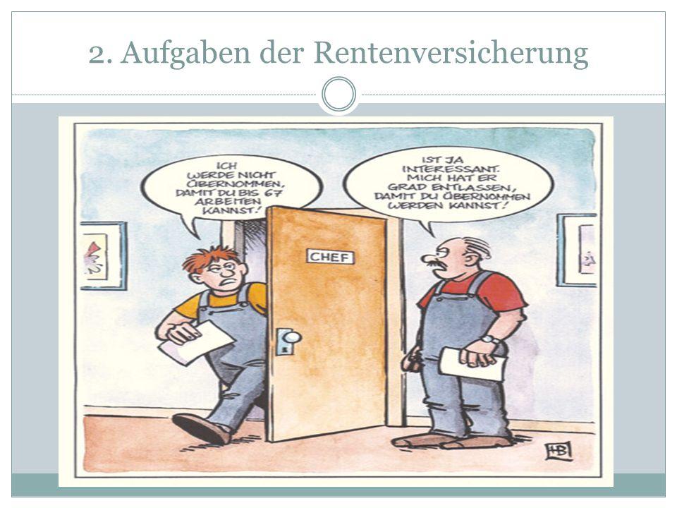 2. Aufgaben der Rentenversicherung