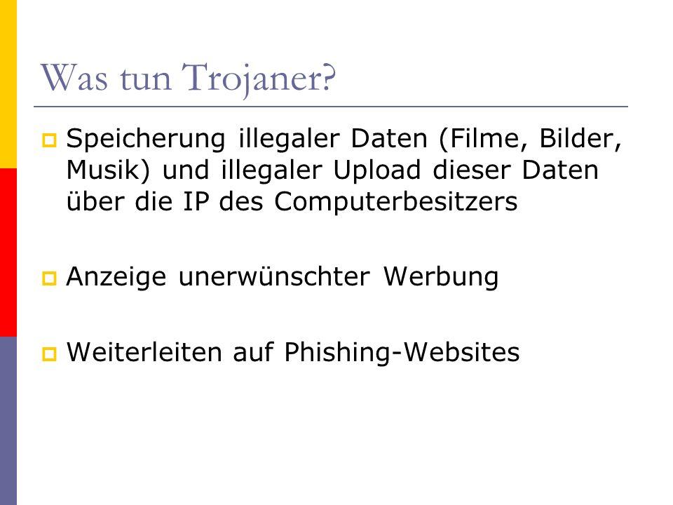 Was tun Trojaner? Speicherung illegaler Daten (Filme, Bilder, Musik) und illegaler Upload dieser Daten über die IP des Computerbesitzers Anzeige unerw