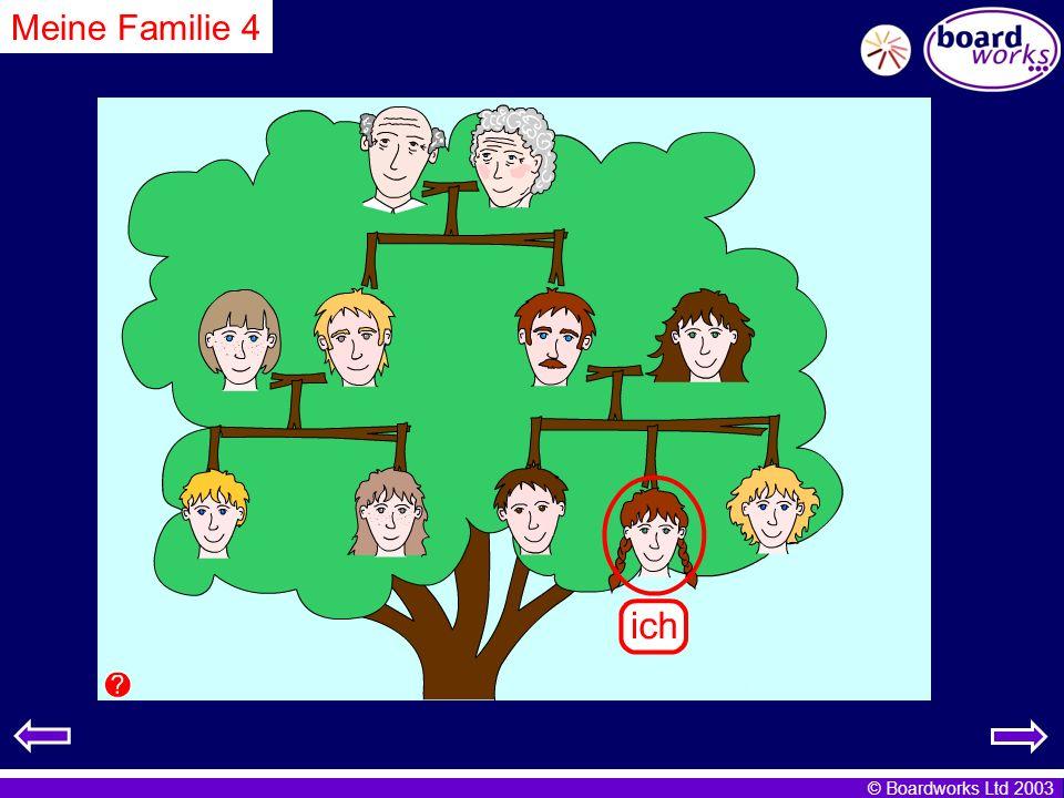© Boardworks Ltd 2003 Meine Familie 4