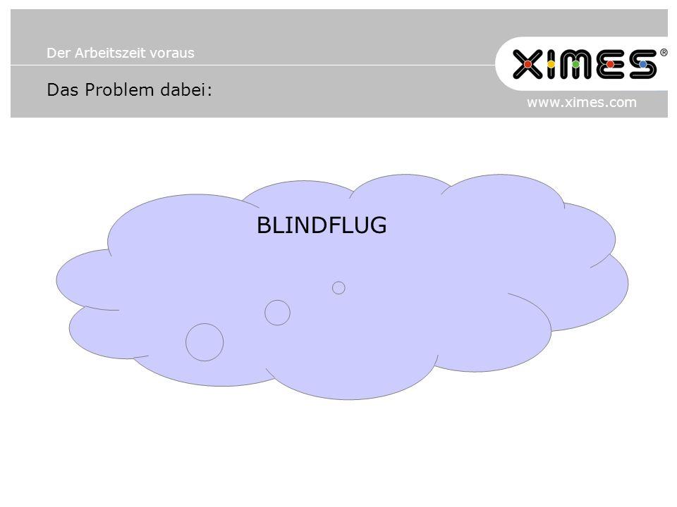 Der Arbeitszeit voraus www.ximes.com Das Problem dabei: BLINDFLUG