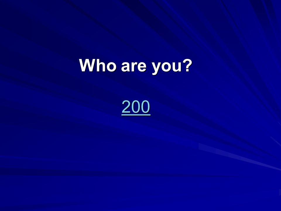 Wer bist du? 400 400 400