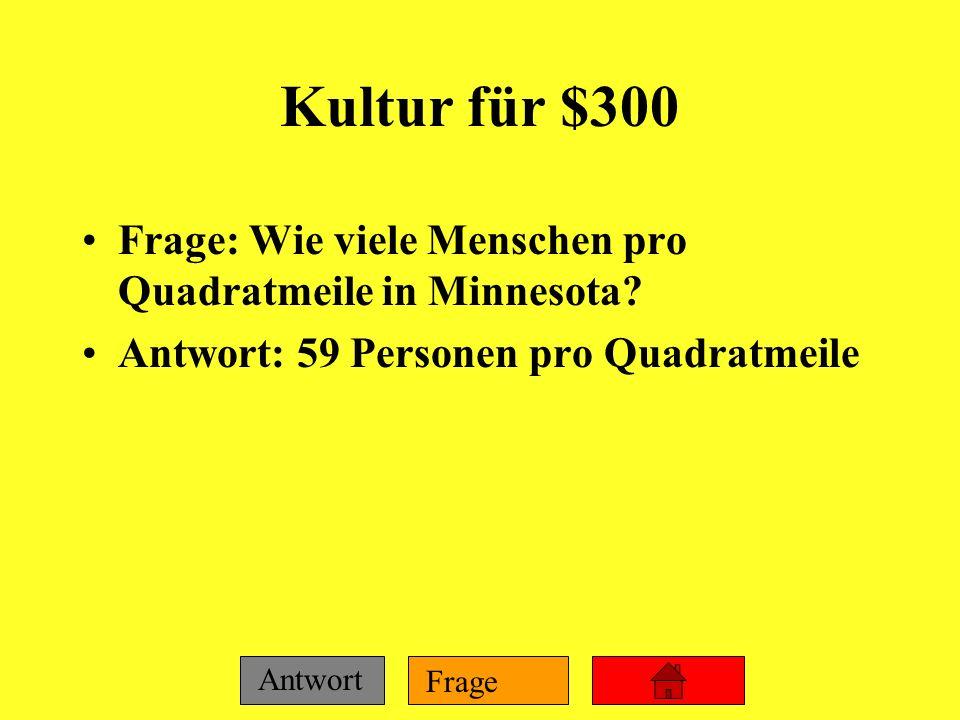 Frage Antwort Kultur für $200 Frage: Wie viele Deutsche wohnen in einem Einfamilienhaus? Antwort: 39%
