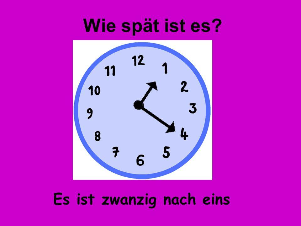 Es ist zehn nach acht Wie spät ist es?