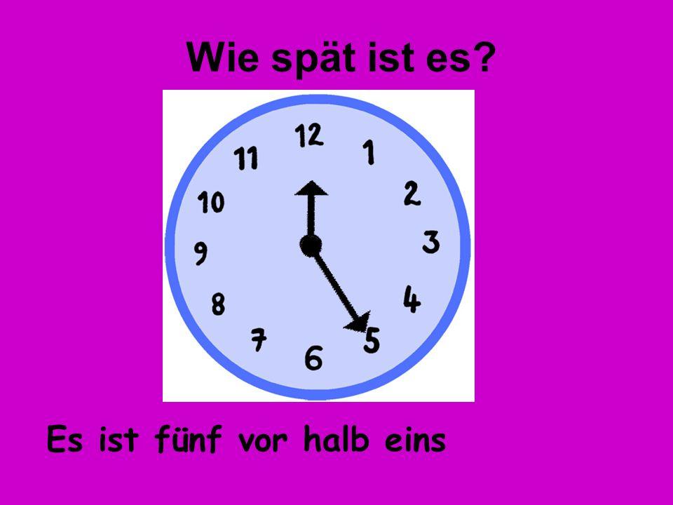 Es ist zwanzig nach eins Wie spät ist es?