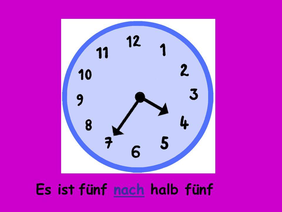 Es ist fünf vor fünf Wie spät ist es?