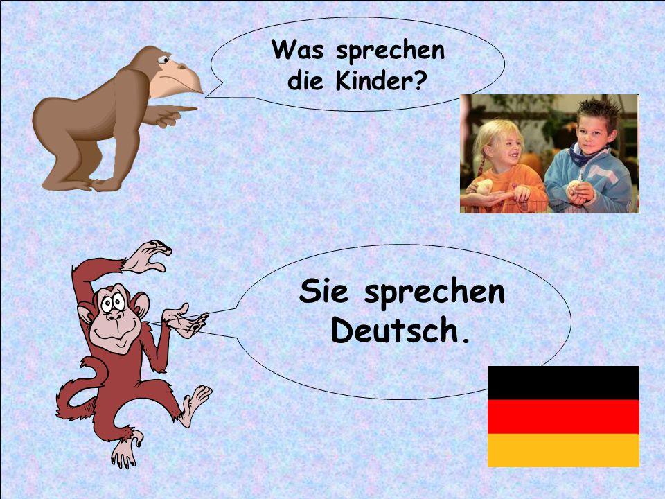 Was sprechen die Kinder? Sie sprechen Deutsch.