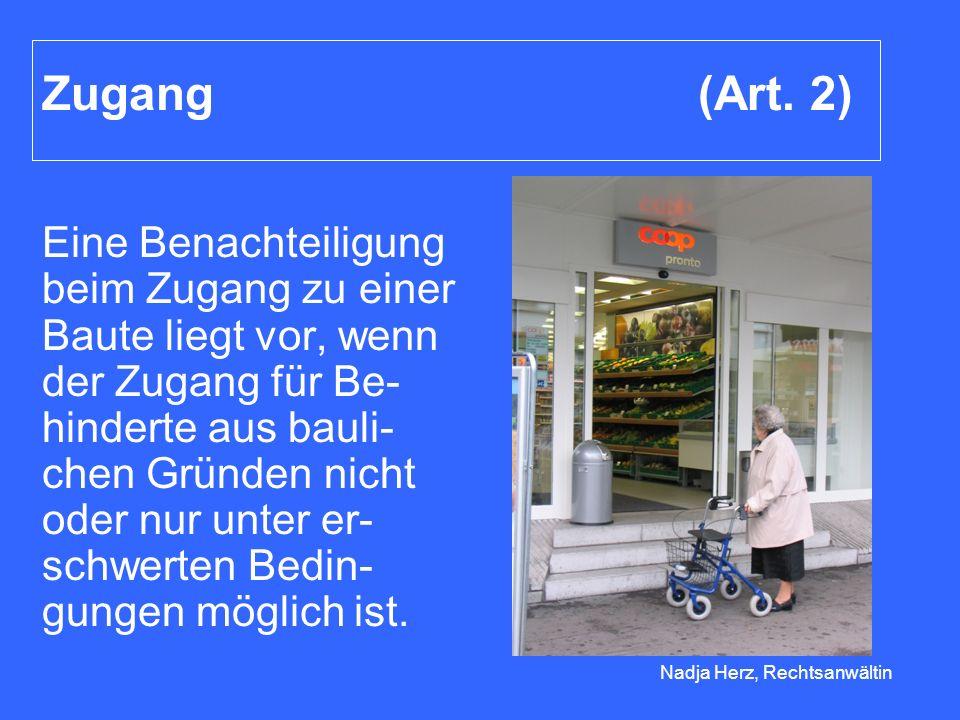 Nadja Herz, Rechtsanwältin Zugang (Art.