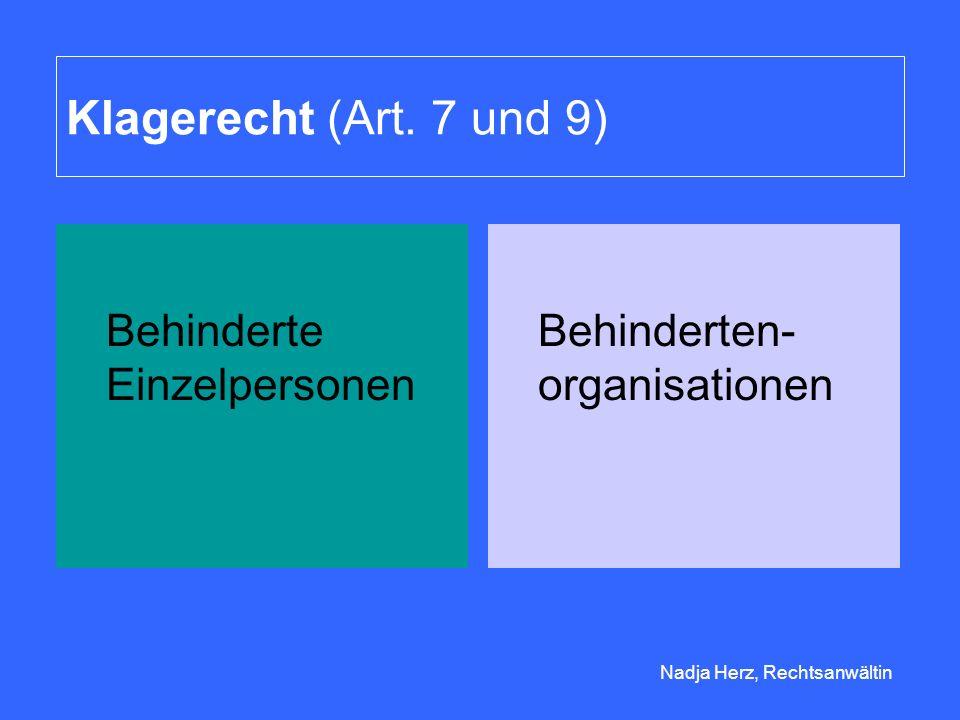 Nadja Herz, Rechtsanwältin Klagerecht (Art.