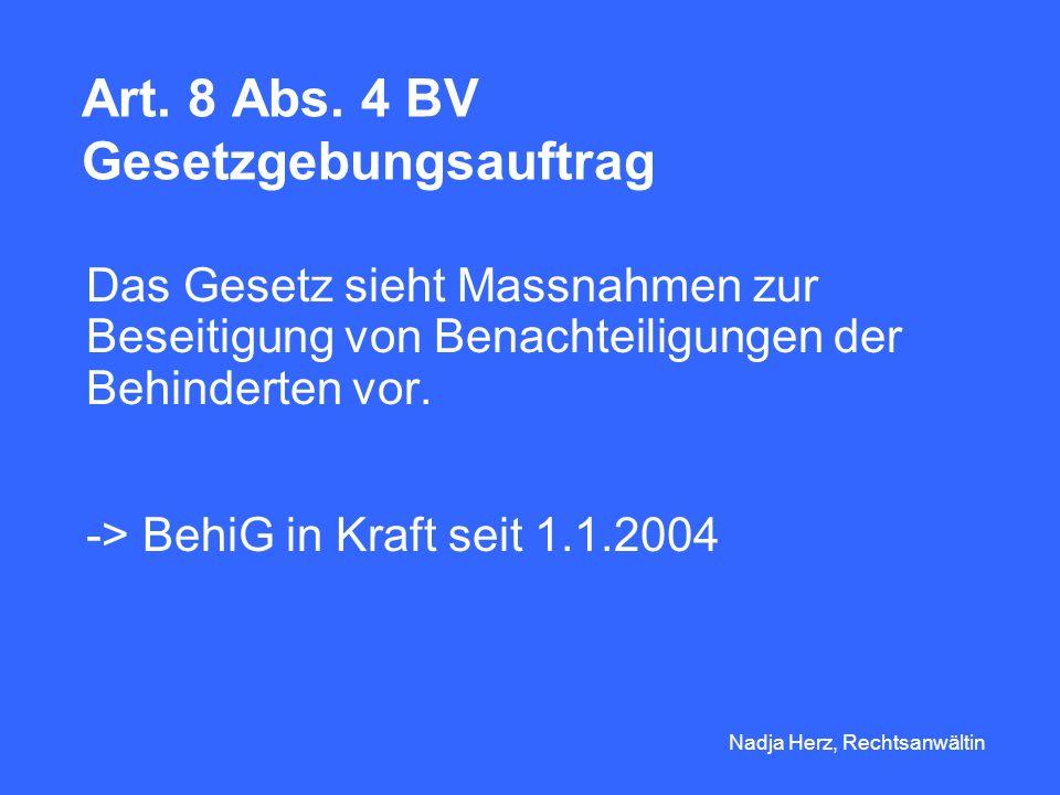 Nadja Herz, Rechtsanwältin Anzahl Behinderter in der Schweiz hörbehindert: ca.