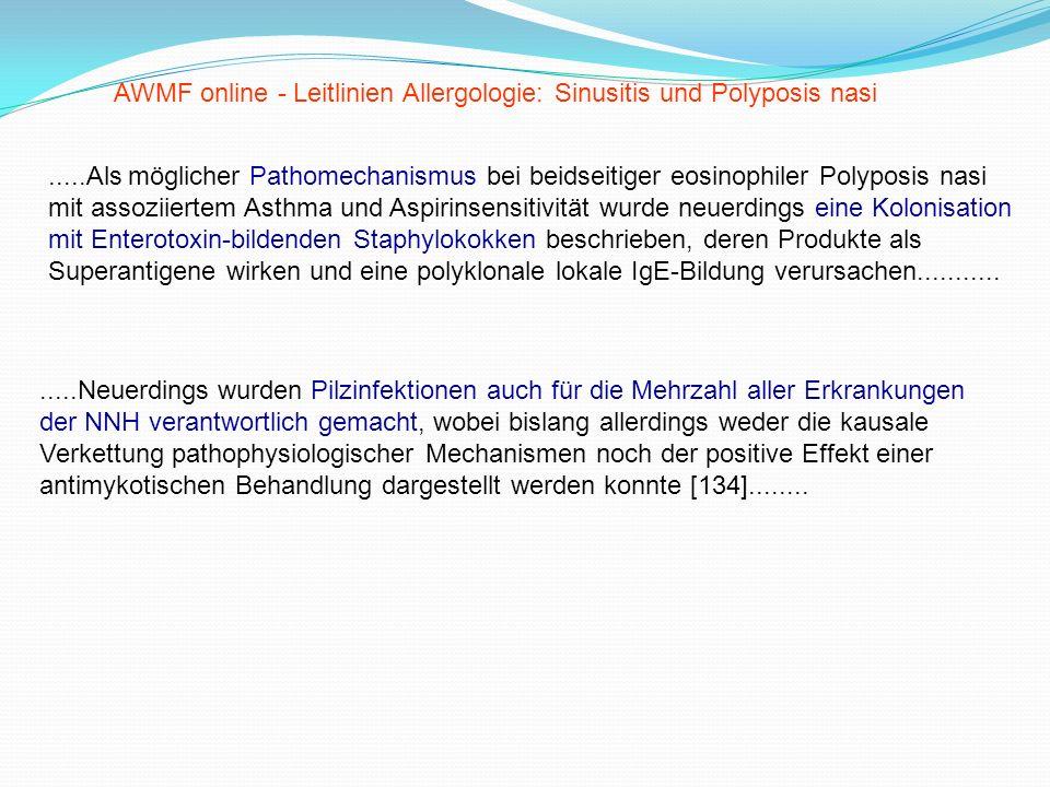.....Als möglicher Pathomechanismus bei beidseitiger eosinophiler Polyposis nasi mit assoziiertem Asthma und Aspirinsensitivität wurde neuerdings eine