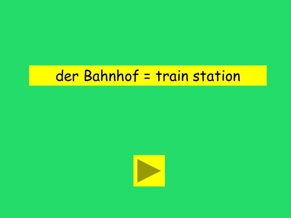 Der Bahnhof ist um die Ecke. boat house train stationmovie