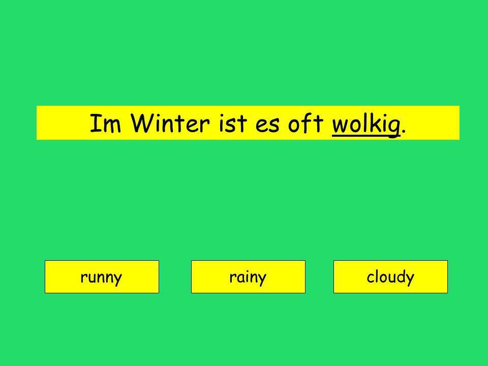 bedeckt = overcast
