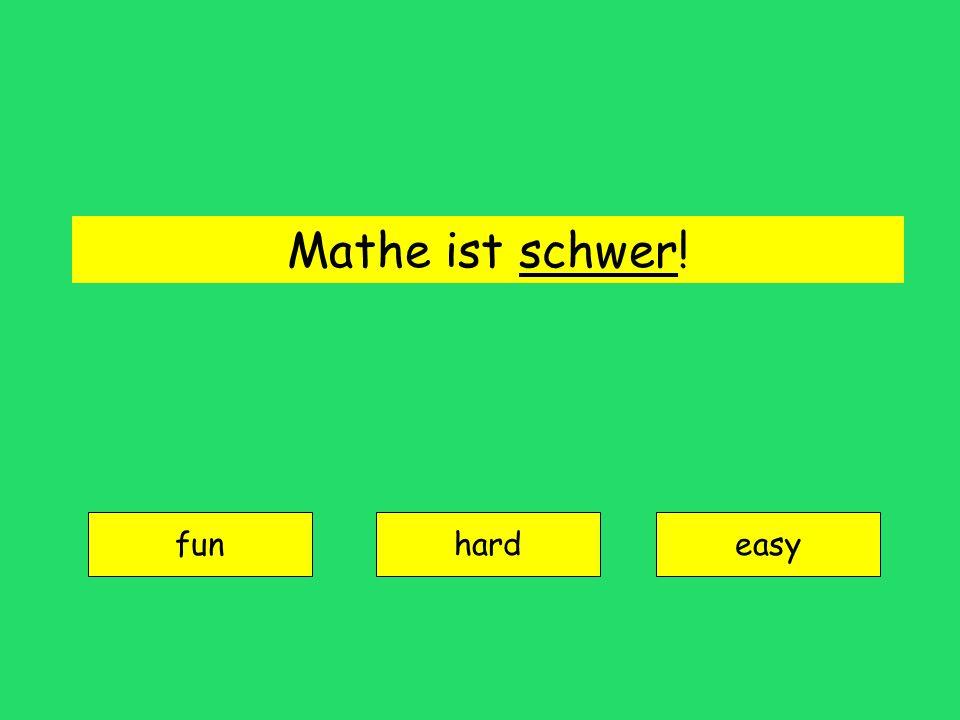 leicht = easy