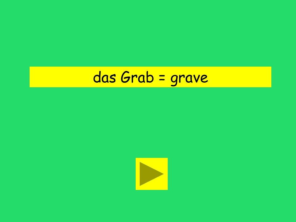 das Grab = grave