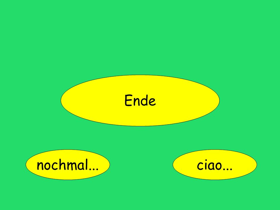 Ende nochmal...ciao...