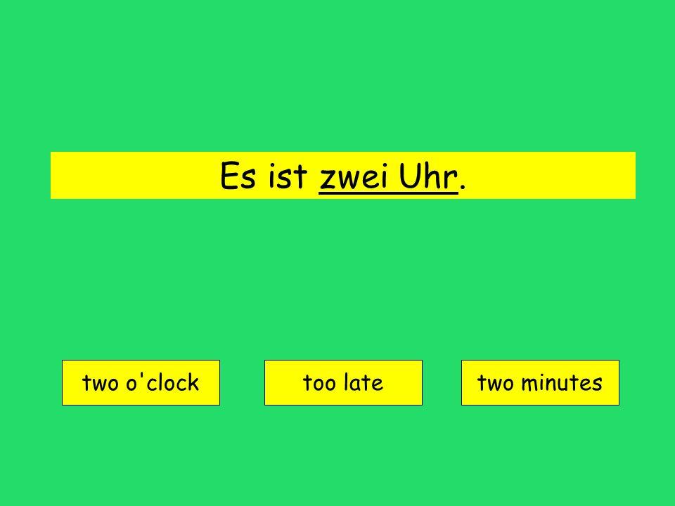 halb eins = 12:30 (half till one)
