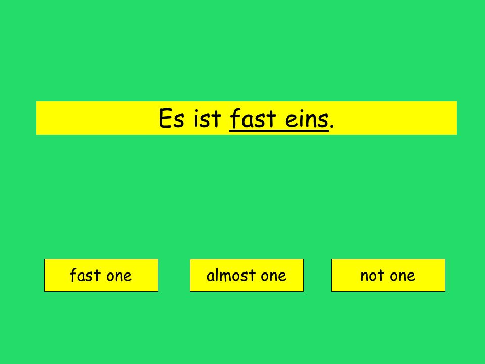 fϋnfzig = fifty