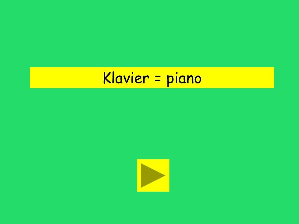 Er spielt Klavier. flute clapperpiano