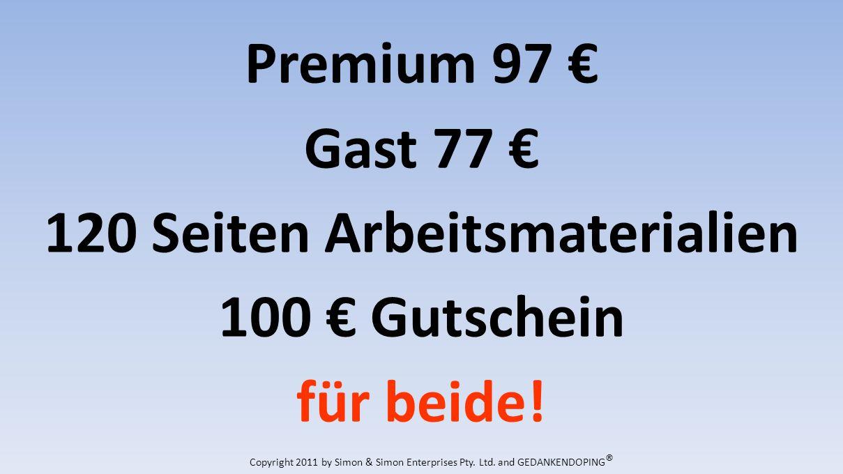 Premium 97 Gast 77 120 Seiten Arbeitsmaterialien 100 Gutschein für beide.
