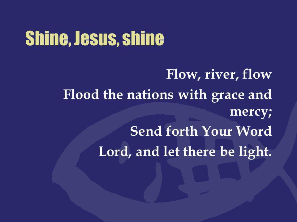 Nimm oh Herr die Gaben Lass uns alle deine Jünger werden.