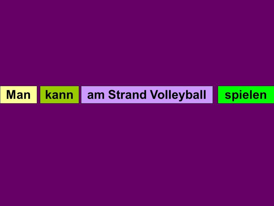 Man kann am spielen Strand Volleyball