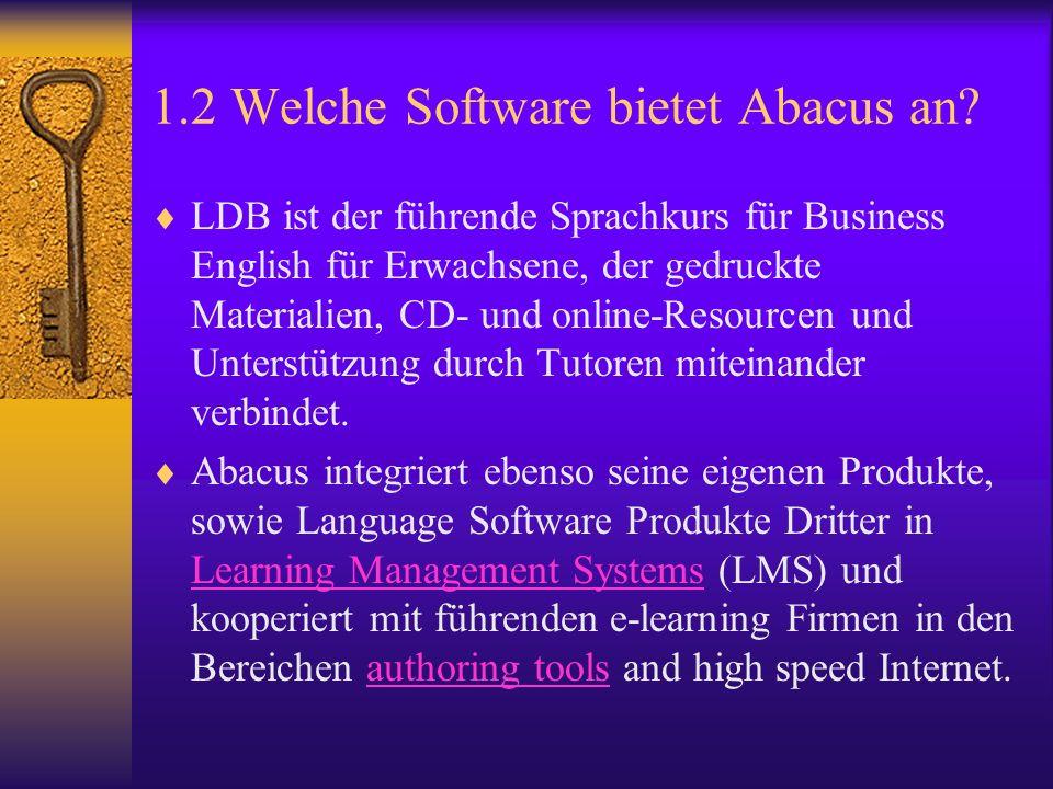 1.2 Welche Software bietet Abacus an.