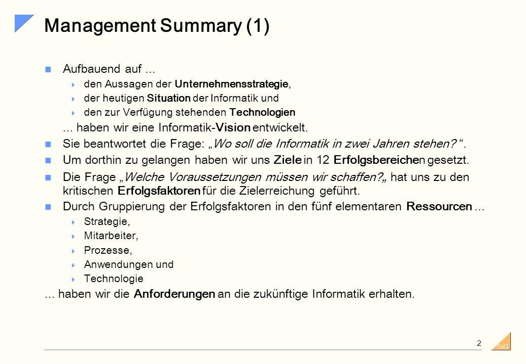 SiG 1 Hamburg, 28. Februar 2002 Vorgehen zur Entwicklung einer Informatik-Strategie Die Zukunft ist so drängend, dass sie schon Gegenwart ist Friedric