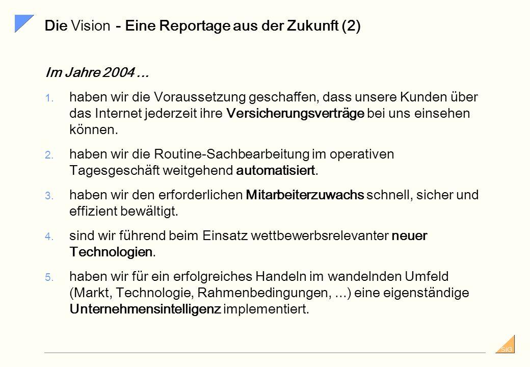 SiG Die Vision - Eine Reportage aus der Zukunft (1) Im Jahre 2004... 1. können neue Produkte ohne Programmierung innerhalb von 6 Wochen entwickelt und