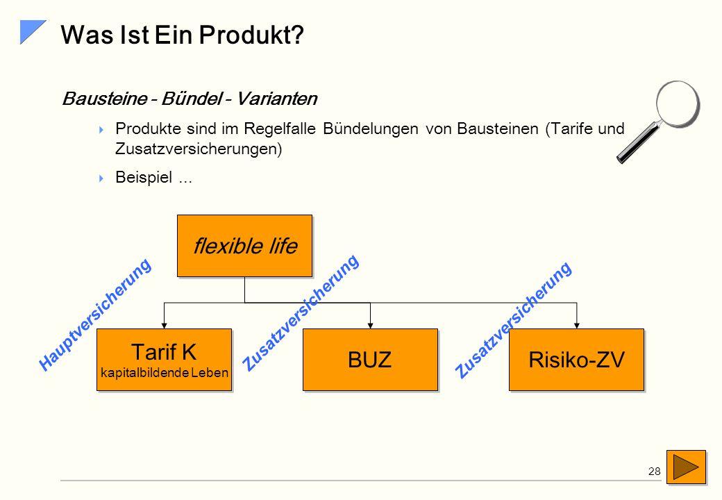 SiG 27 Semantikreiche Produkte Das Produkt, als vorformuliertes Versicherungsgeschäft, ist die zentrale Steuerungseinheit der wertschöpfenden Prozesse
