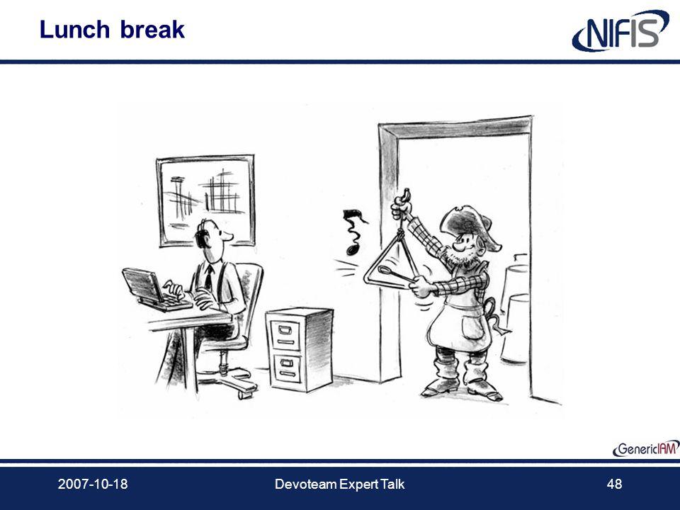 2007-10-18Devoteam Expert Talk48 Lunch break