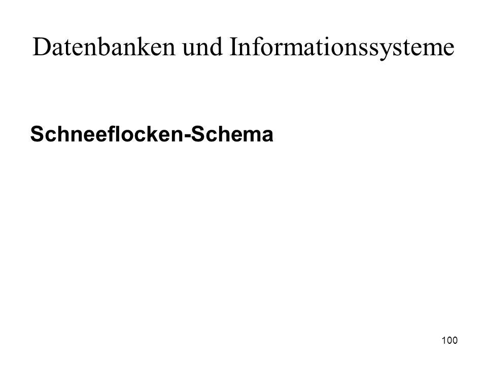 100 Datenbanken und Informationssysteme Schneeflocken-Schema