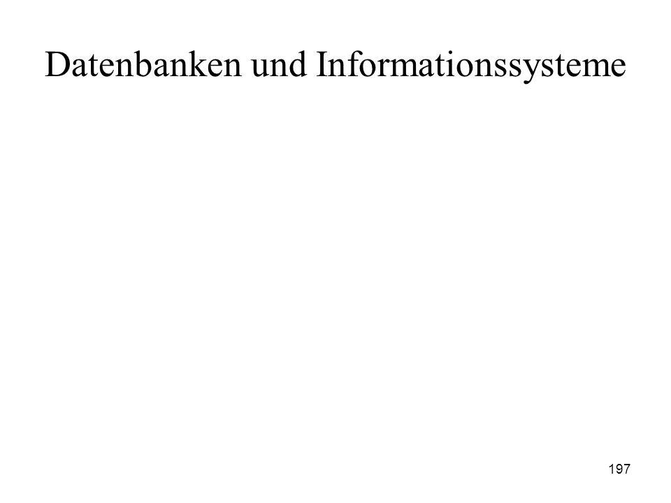 197 Datenbanken und Informationssysteme