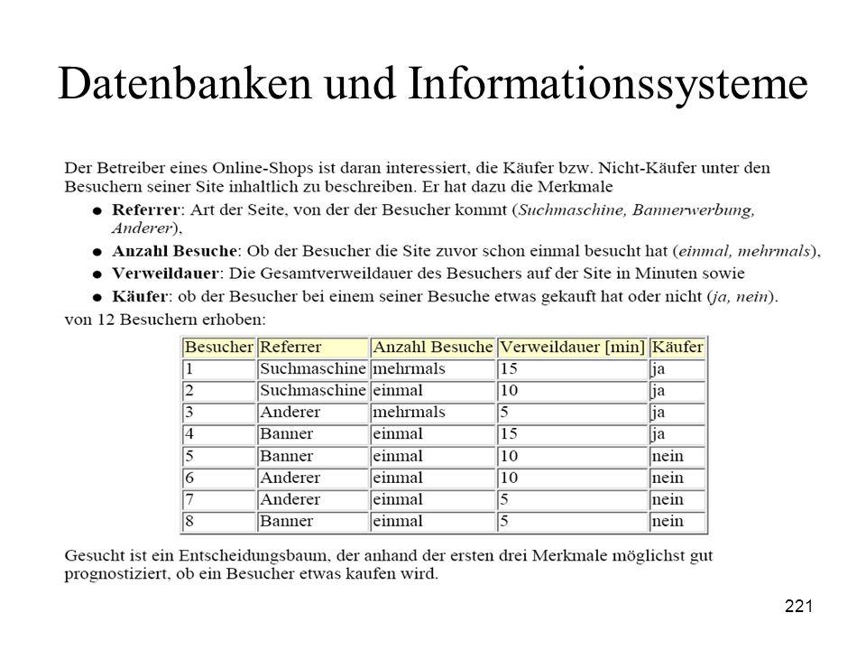 221 Datenbanken und Informationssysteme