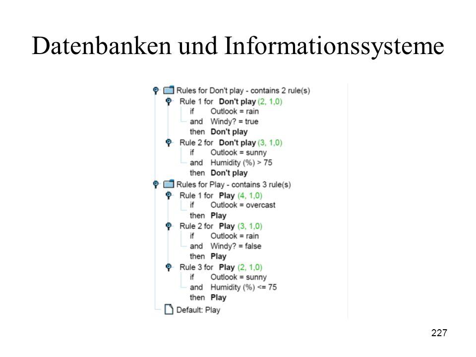 227 Datenbanken und Informationssysteme
