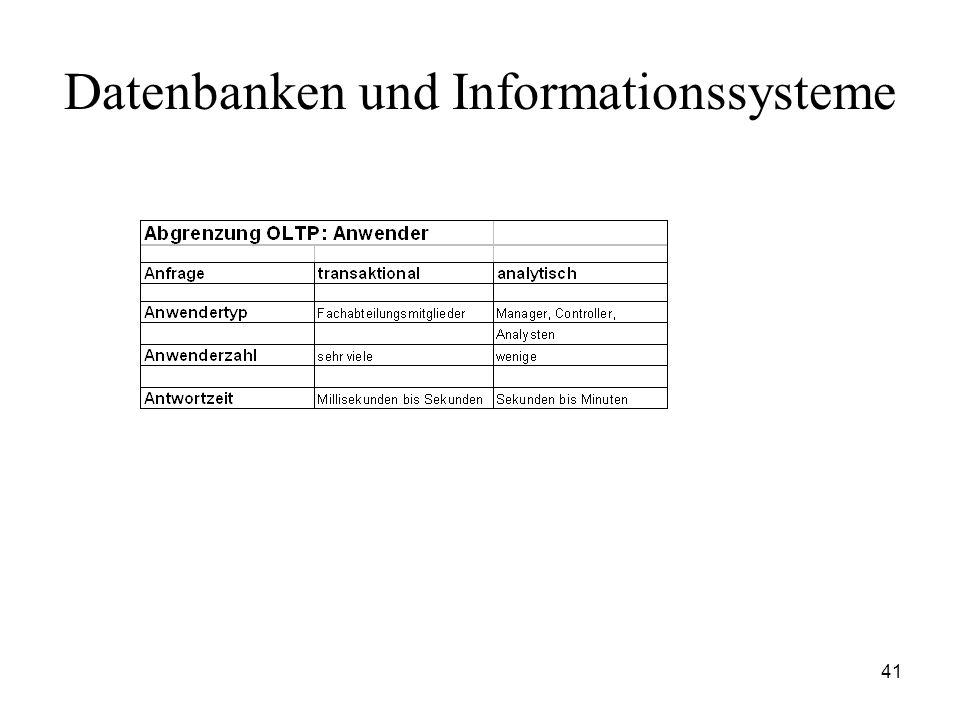41 Datenbanken und Informationssysteme
