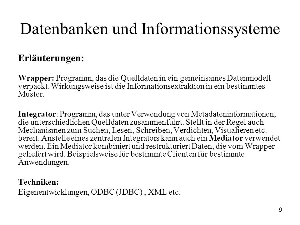 170 Datenbanken und Informationssysteme Referenzarchitektur