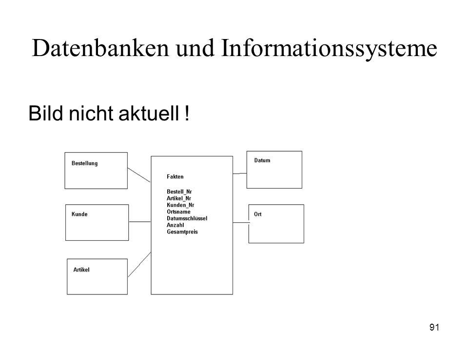 91 Datenbanken und Informationssysteme Bild nicht aktuell !
